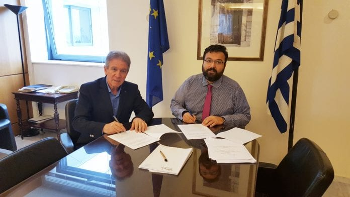 Σύμβαση Υφυπουργός Αθλητισμού Δήμος Σερρών