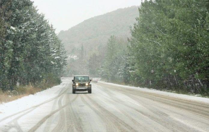 Χιόνια Δρόμοι αλυσίδες ΠΕ Σερρών