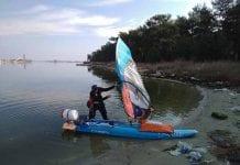 γύρος Ευρώπης με windsurfing.