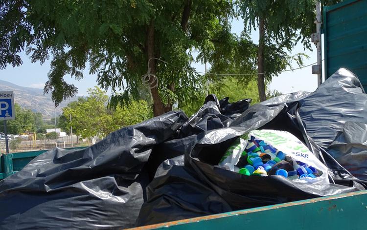 Δ.Βισαλτίας - Μισός τόνος πλαστικά καπάκια serrespost.gr